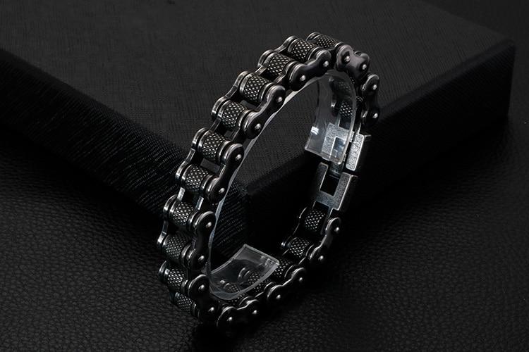 Retro Heavy Stainless Steel Motorcycle Chain Men Bracelet Male 13MM Wide Best Friends Mens Bracelets & Bangles Hip-Hop Jewelry