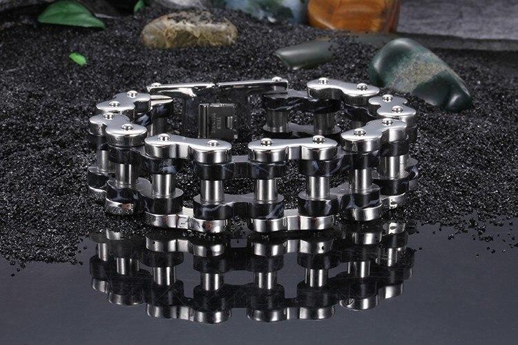TrustyLan Cool Thick Chain Bracelets For Men Biker Jewelry Heavy Motorcycle Links 316L Stainless Steel Bracelet Male Wristbands