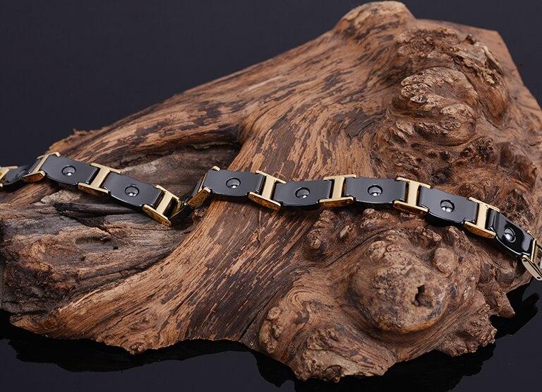 Health Benefit Bio Ceramic Man Bracelet Male Magnetic Mens Bracelets For Women Accessories Best Friends Jewelry Gifts Adjustable