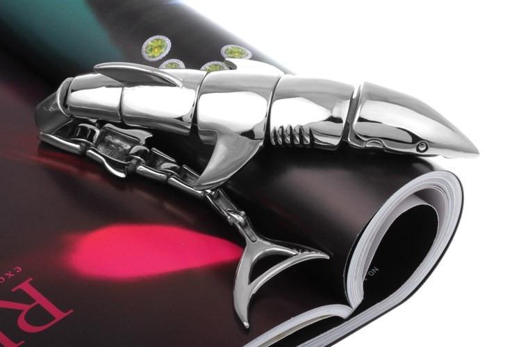 TrustyLan Fashion Cool Shark Bracelet Steel Glaze Men Male Bracelets Bangles Exaggerated Bracelet Men Men's Jewelry Accessories