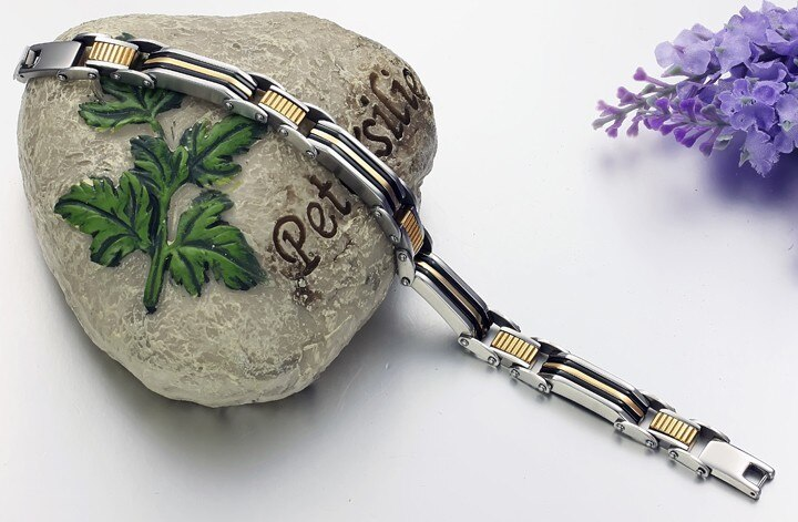 TrustyLan Fashion Steel Jewelry Gold Color Bracelet Men Friendship Best Friends Men's Bracelets Bangles For Man Wristband 2018