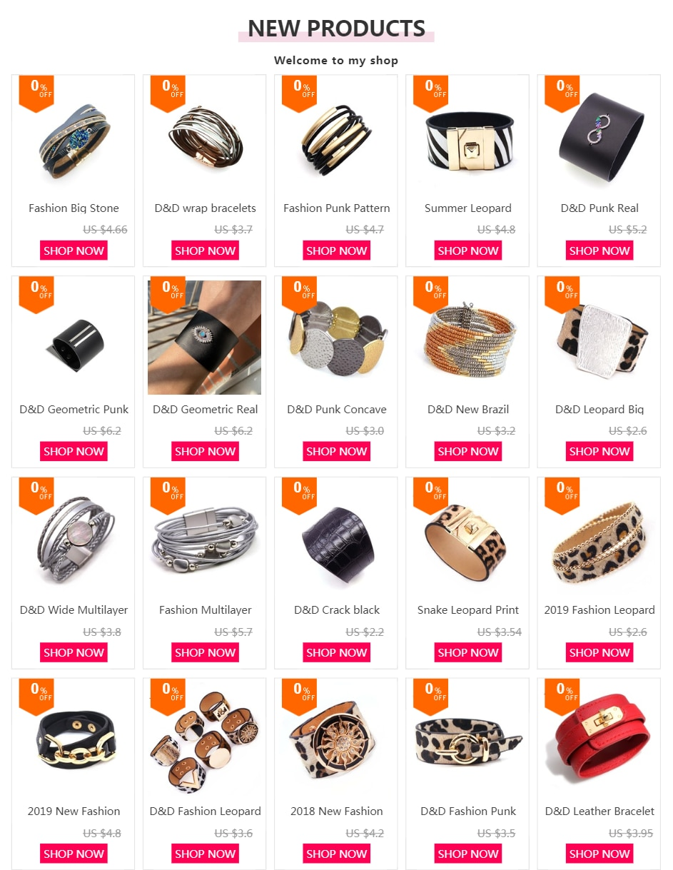 2019 New Luxury Geometric Bracelets For Women Silver Color Choose Designer Handmade Leather Jewelry Christmas Gift
