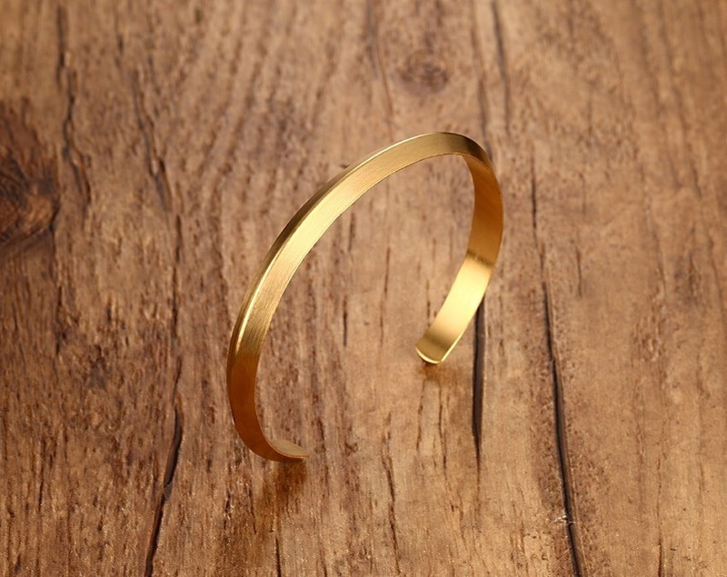 Girls Simple Charming Wide Open Round Bracelet for Women Black Cuff Bangles Jewelry to 3 Color Choose