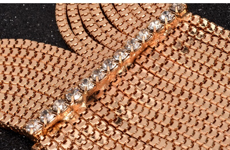 UDDEIN Vintage Maxi Long Necklace New Choker Necklace Women Party Jewelry Gift Crystal Tassel Pendant Statement Choker Collares