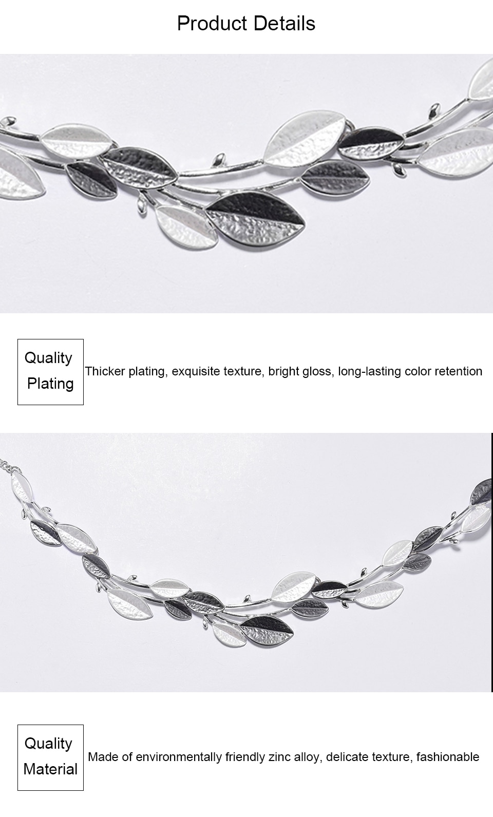 Cring Coco 2020 New Leaf Choker Necklace Women Fashion Charming Alloy Chains Chokers for Lady Female Silver Color Necklaces Gift