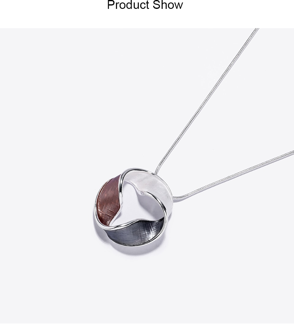 Cring Coco Geometric Twisted Torus Necklace Women's Fashion Choker Pendants Girl Lady Wedding Holiday Jewelry Alloy Chain Hot