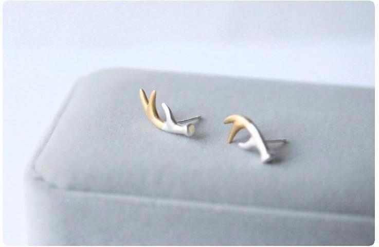 925 Sterling Silver Jewelry Forest Series  Earring Deer Antlers Earrings For Women Hypoallergenic Pendientes Brincos  SE134