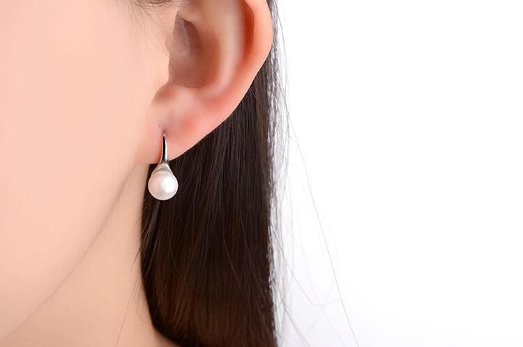 New Arrival Temperament Wild 925 Sterling Silver Jewelry Pearl Hook Hypoallergenic Female High-quality Dangle Earrings   SE250