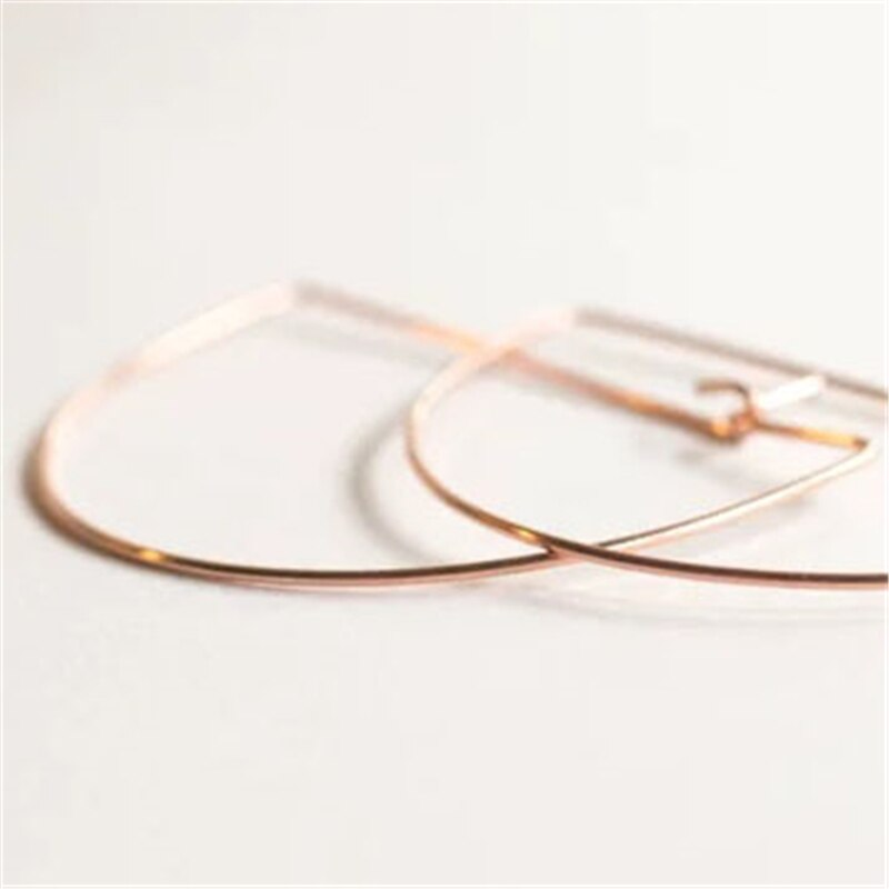 925 Silver Hoop Earrings Handmade Jewelry Vintage Gold Filled Brincos Pendientes  Boho  Earrings For Women Oorbellen
