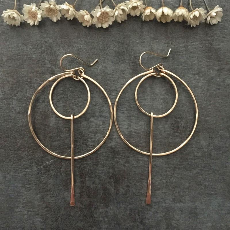 925 Silver/Gold Filled Hoops Earrings Boho Earrings Handmade Earrings Brincos Pendientes Orbellen Minimalism Earrings for Women