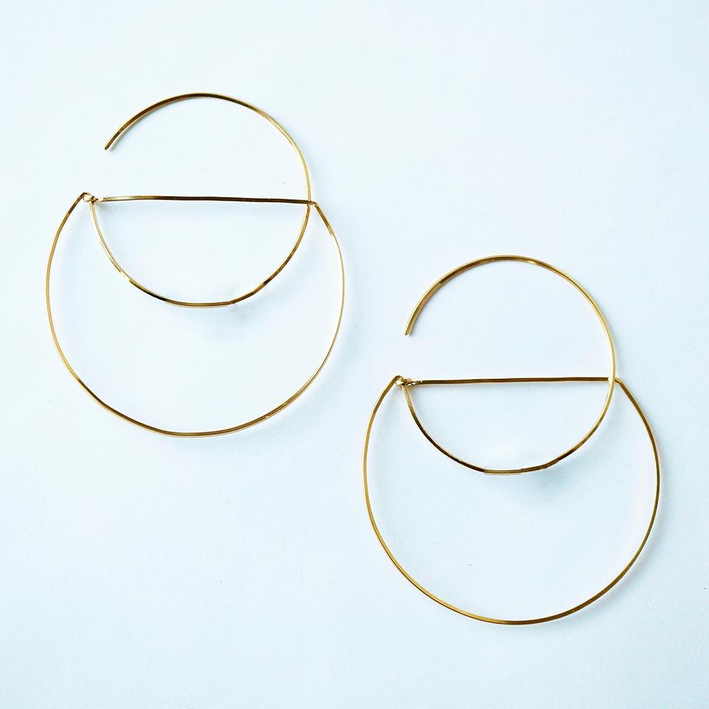 Gold Filled Hoop Earrings Handmade Jewelry 925 Silver  Brincos Pendientes Boho OrecchiniEarrings For Women Oorbellen