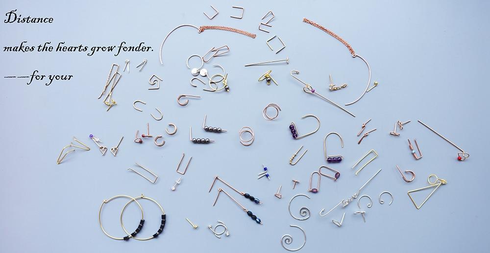 100% 925 Silver Piercing Earrings  Vintage Jewelry Gold Filled Jewelry Punk Oorbellen Minimalist Boho Earrings For Women