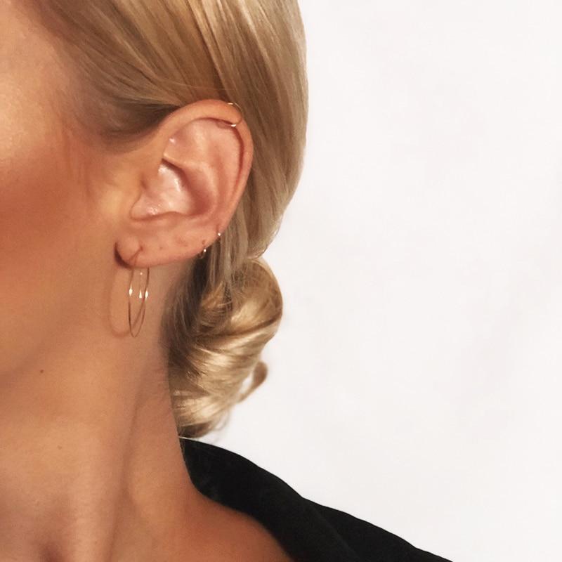 Hoop Earrings Handmade Jewelry Charm Gold Filled/925 Silver Boho Brincos Pendientes Ied Earrings For Women Oorbellen