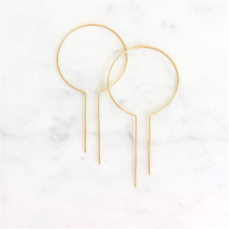 925 Silver Gold Hoop Earrings Gold Filled Handmade Jewelry Boho Orecchini Oorbellen Pendientes Earrings For Women Brincos