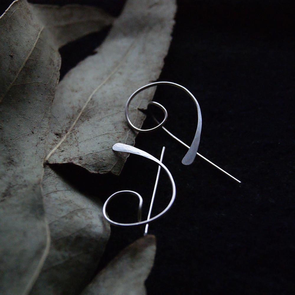 Piercing Earrings  Handmade Jewelry Circle Gold Filled/925 Silver Jewelry Punk Oorbellen Minimalist Earrings For Women