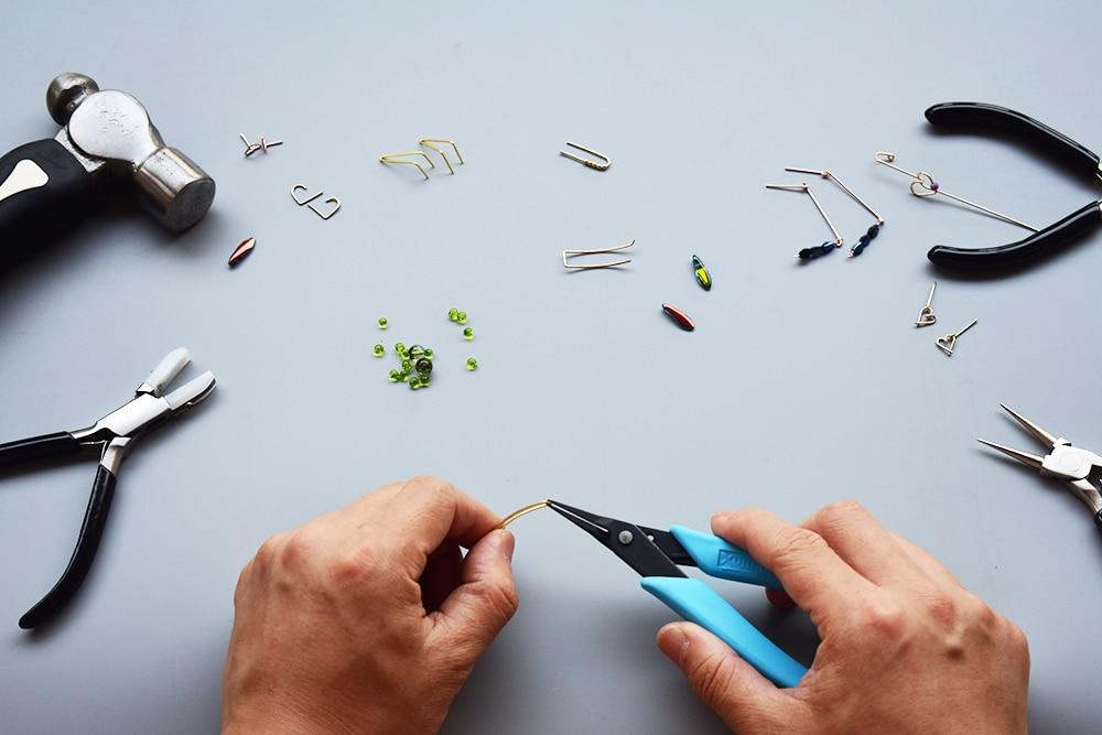 925 Silver Ear Cuff Handmade Jewelry Piercing Earrings Brinco Gold Filled Long Ear Pin Minimalist Oorbellen Earring For Women