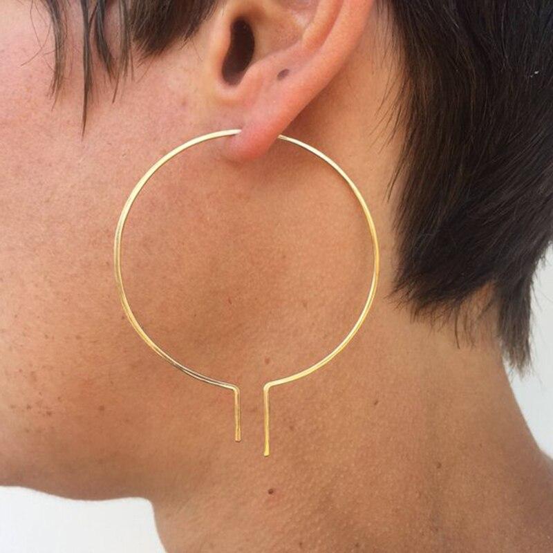 Gold Hoops Earrings Oorbellen Gold Filled/Silver Handmade Jewelry Ize Boho Orecchini Pendientes Earrings For Women Brincos