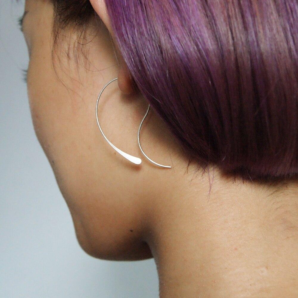 925 Silver Hoop Earrings Handmade Jewelry Gold Filled Oorbellen Vintage Boho Orecchini Pendientes Earrings For Women Brincos