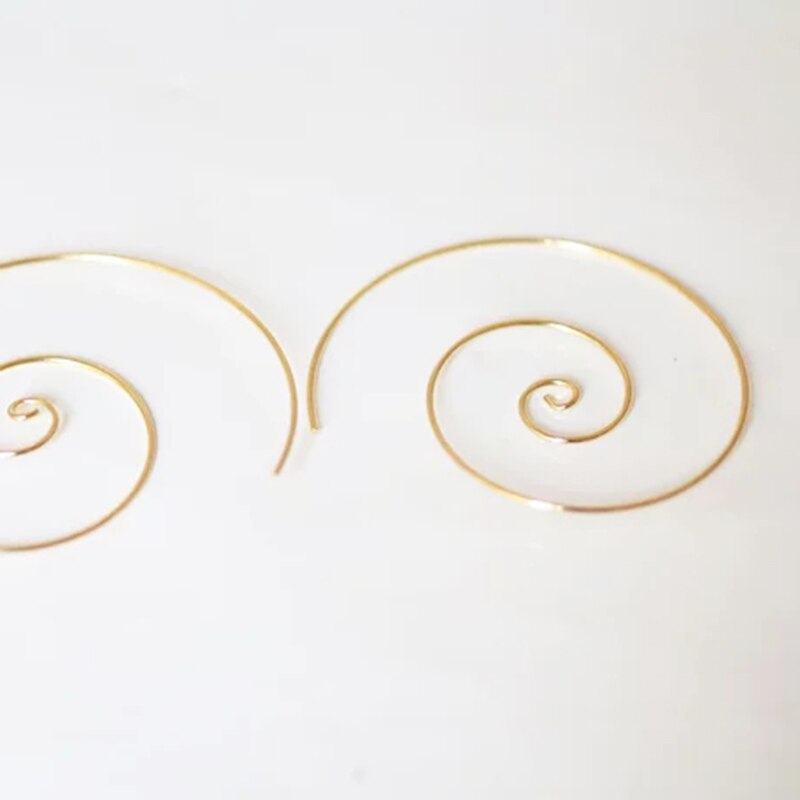 Handmade Hoops Earrings Jewerly Gold Filled/925 Silver Vintage Boho Orecchini Brincos Oorbellen Pendientes Earrings For Wome