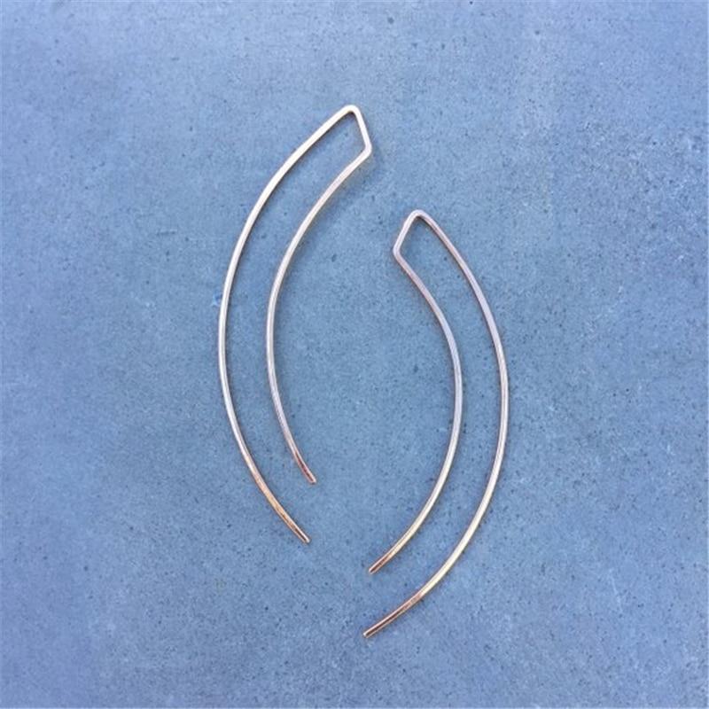Long Bar Earrings Handmade  Jewelry Gold Filled/925 Silver Jewelry Vintage Brincos Minimalist Oorbellen Earrings For Women