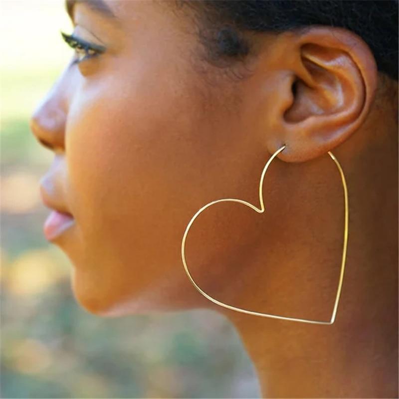 925 Silver Heart-shaped Earrings Handmade Jewelry Gold Filled Vintage Brincos  Boho Oorbellen Pendientes Earrings For Women