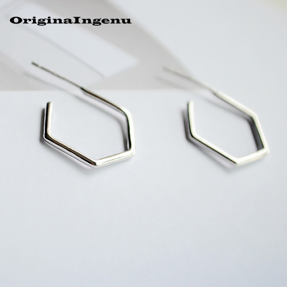 925 Earrings Sterling Silver Jewelry Vintage Geometry Brincos Creative Birthday Gift Pendientes Oorbellen Earrings for Women