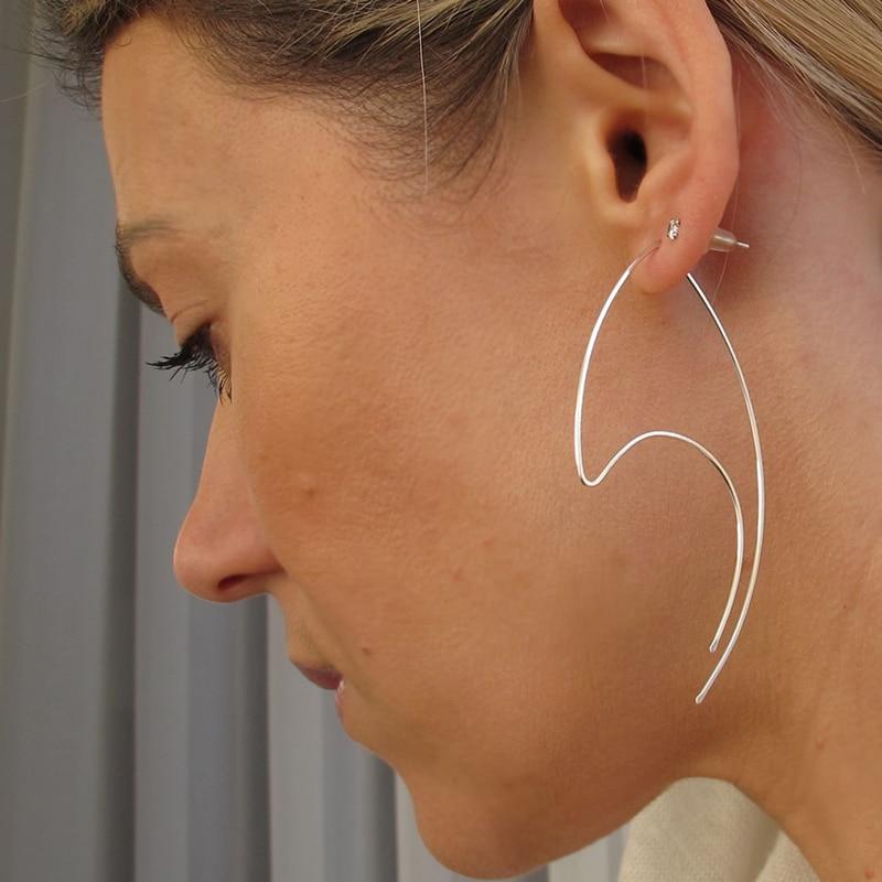 Sterling Silver Hoop Earrings Handmade Jewelry Gold Filled Brinco Vintage Jewelry Boho Pendientes oorbellen Earrings for Women