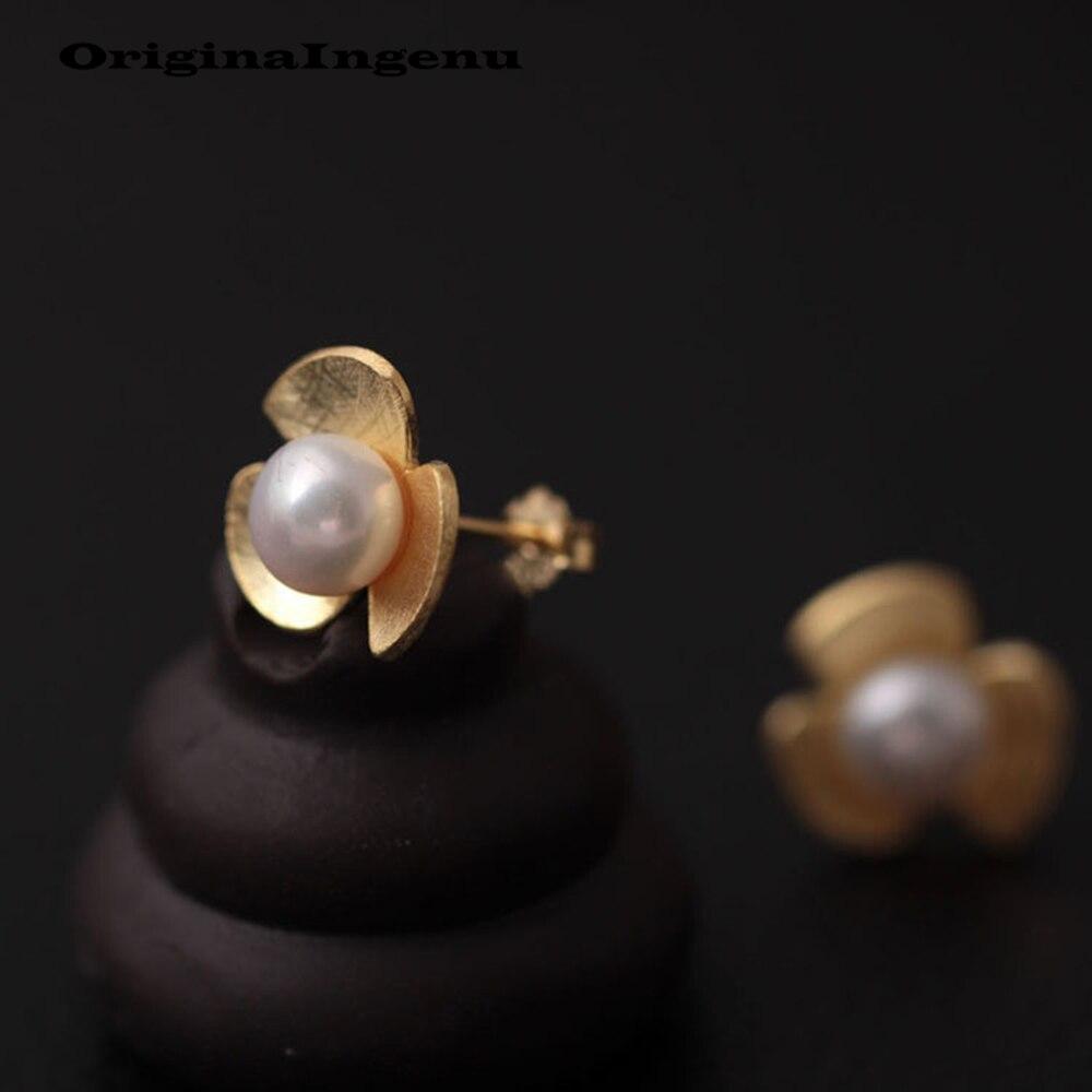 925 Silver Earrings Gold Jewelry Vintage Flowers Minimalism Charm Birthday Gift Pendientes Brinco Earrings for Women Oorbellen