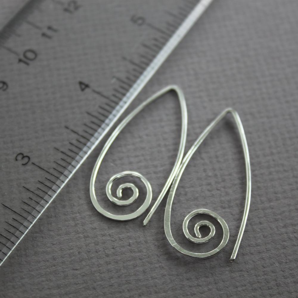 Circle Earrings Handmade Jewelry Vintage Boho Hammered 925 Silver Gold Filled Brincos Pendientes Earrings For Women Oorbellen