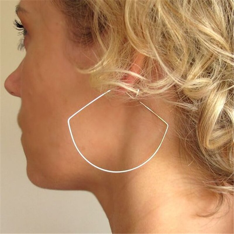 Gold Hoop Earrings Handmade Jewelry Gold Filled/Silver Oorbellen Vintage Boho Orecchini Brincos Pendientes Earrings For Women