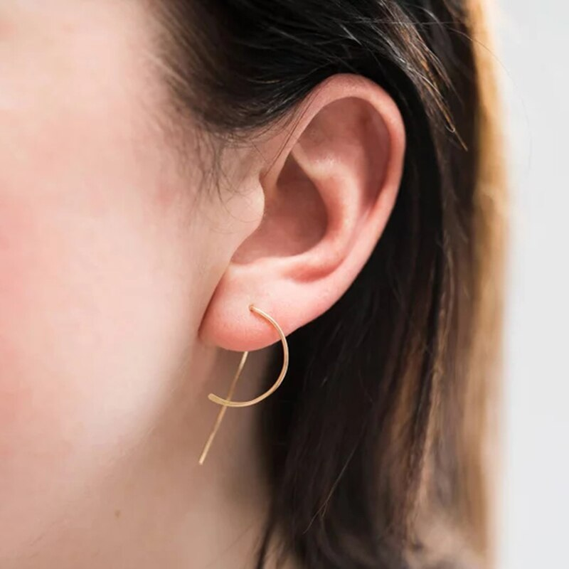 Circle Earrings Handmade Jewerly Gold Filled/925 Silver Vintage Boho Orecchini Brincos Oorbellen Pendientes Earrings For Wome