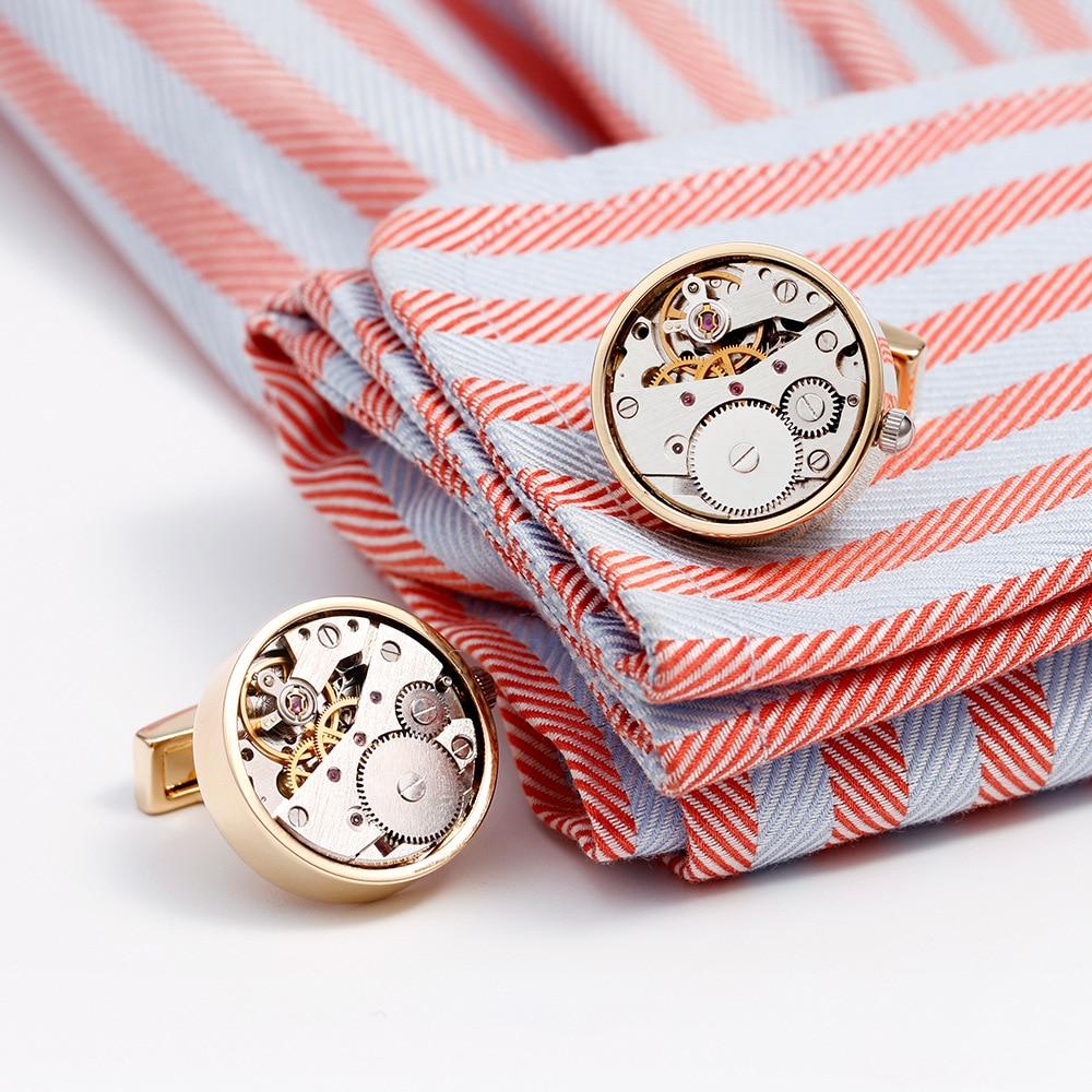 Shirts Manchetknopen Voor Mannen Merk Horloge Tourbillon Beweging Mechanische Manchetknopen Knoppen Hoge Kwaliteit Business Mannen Gift NR13