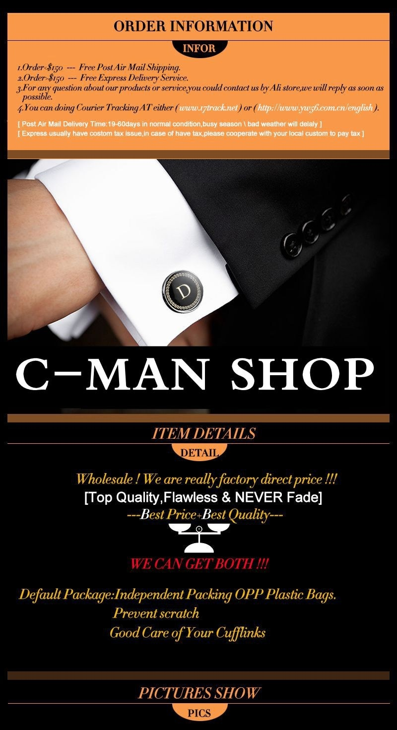 C-MAN Luxe shirt Gear manchetknoop voor mens Gold Merk manchet knoppen manchetknopen Hoge Kwaliteit abotoaduras Sieraden