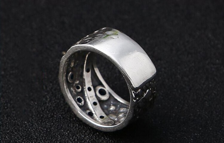 925 Sterling Silver Star Meteor Fashion Individual Ring  Create Thai Silver Finger Ring Wide Star Open Ring Women's Jewelry