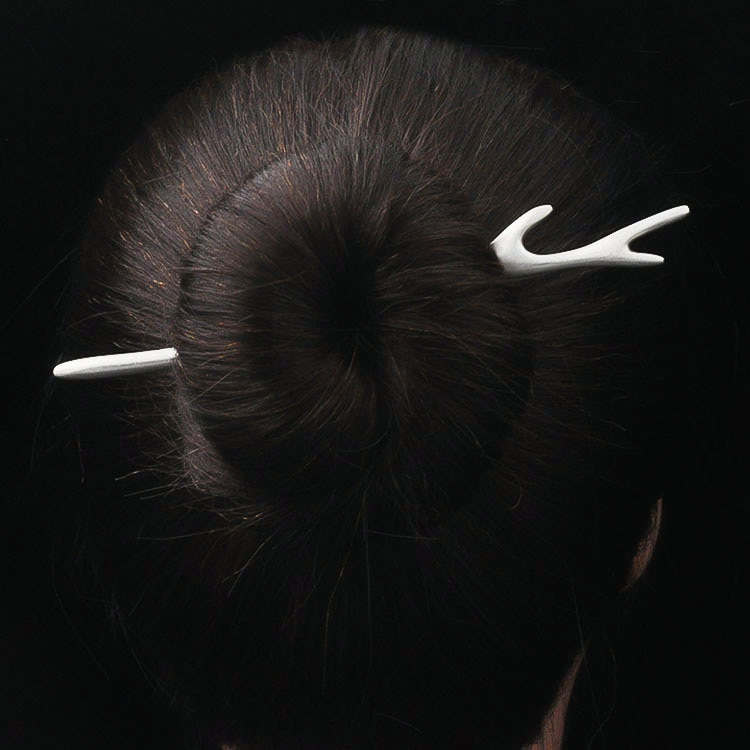 Silver 925 Jewelry Thai Silver Handmade Antlers Hair Stick For Women Long Hair Jewelry Fashion Premium Accessories