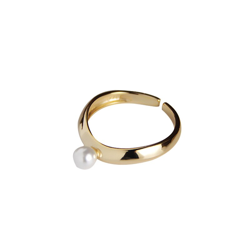 Silvology 925 Sterling Silver Olivet Wave Rings 18K Gold Elegant Harajuku Style Pearl Rings for Women Chic Party Jewelry Design