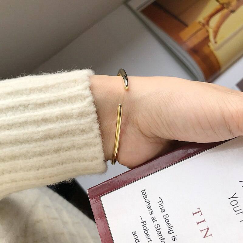 Silvology 925 Sterling Silver Solid Triangle Bangles for Women Glossy Elegant Minimalist Bracelets 2020 Originality Jewelry Gift