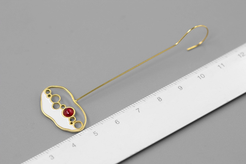 INATURE 925 Sterling Silver Jewelry Natural Tourmaline Ruby Stone Drop Earrings for Women Bijoux