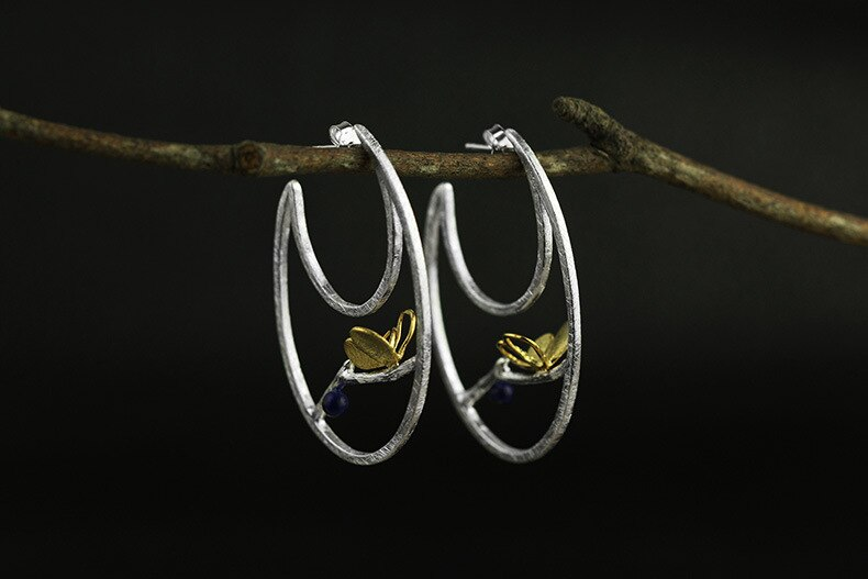 INATURE 925 Sterling Silver Elegant Big Butterfly Statement Earrings for Women Wedding Party Gift