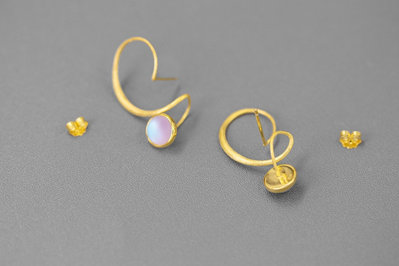 INATURE All the way to the goal 925 Sterling Silver Colored Glaze Twist Stud Earrings for Women Statement Jewelry