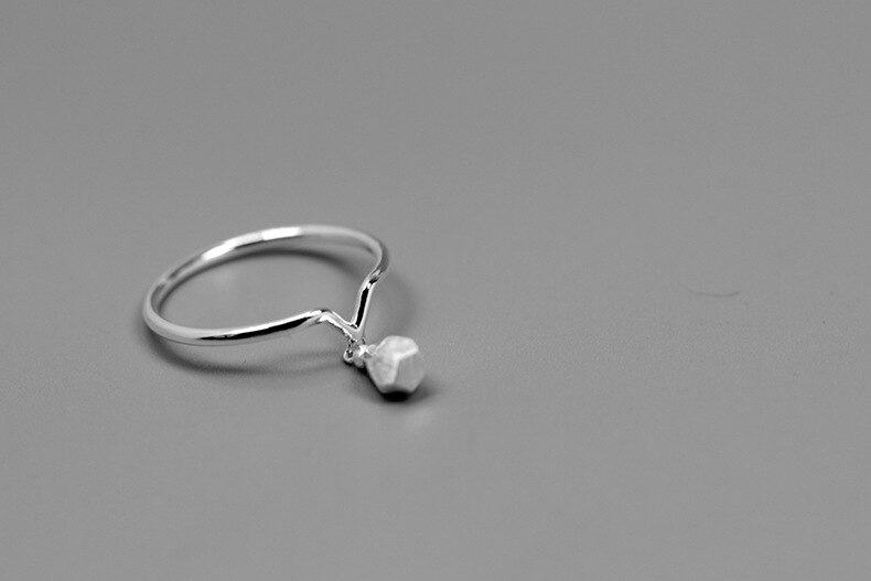 INATURE 925 Sterling Silver Good Night Bulb Finger Ring for Women Party Jewelry Gifts