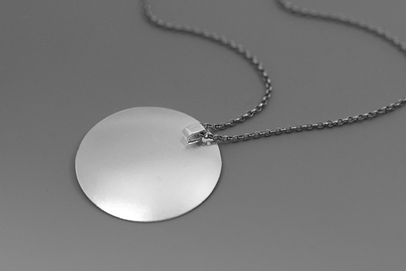 INATURE 925 Sterling Silver Cloud Round Pendant Necklace For Women Jewelry Bijoux Gifts
