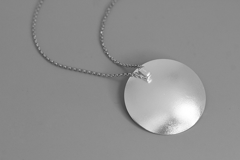 INATURE 925 Sterling Silver European and American Plum Blossom Pendant Necklace for Women Fashion Jewelry Accessories