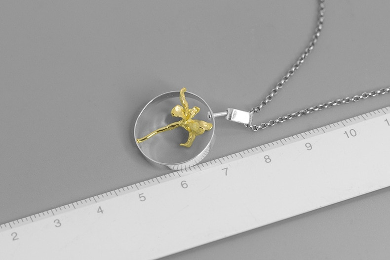 INATURE 925 Sterling Silver Elegant Iris Flower Round Pendant Necklaces For Women Jewelry Gift