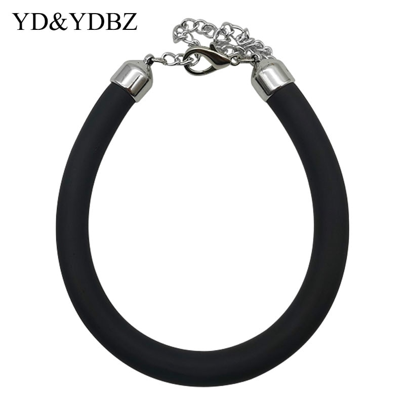 YD&YDBZ New Choker Necklaces Women Short Sweater Chains Rubber Meterial Handmade Jewelry Simple Necklace Accessories Wholesale