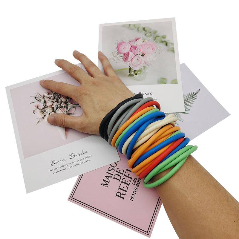 ETSY Shop Design Bracelets 3Pcs/Sets Wholesale Price Dropshipping Bracelet Jewelry for Women Handcrafted boho Punk Bangle Rubber