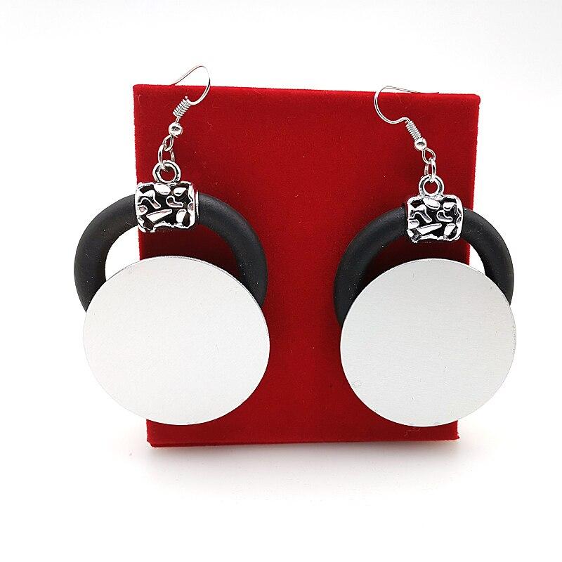 YD&YDBZ 2019 New Aluminum Sheet And Rubber Drop Earrings Germany Style Women Drop Earrings Big Round Ear Jewelry Girl Gift Party