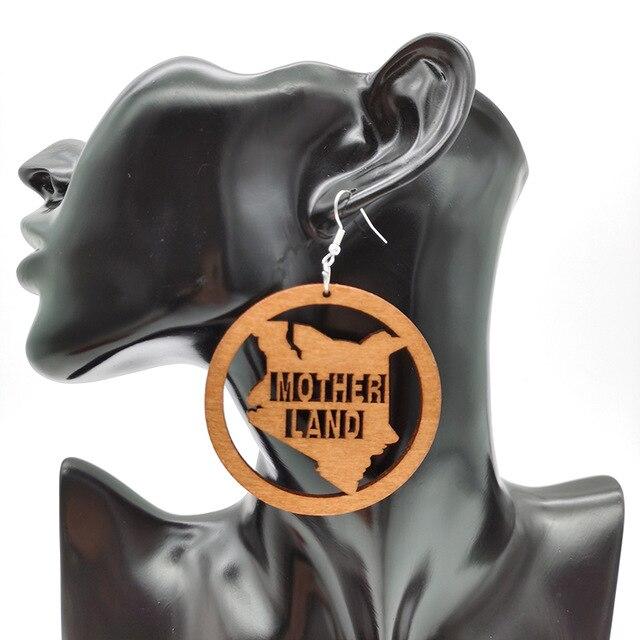 Wooden Earrings A pair Vintage Elephant Anime boho Earring Jewelry for Women Goth Punk Style kolczyki Big Dangler Eardrop Art A+