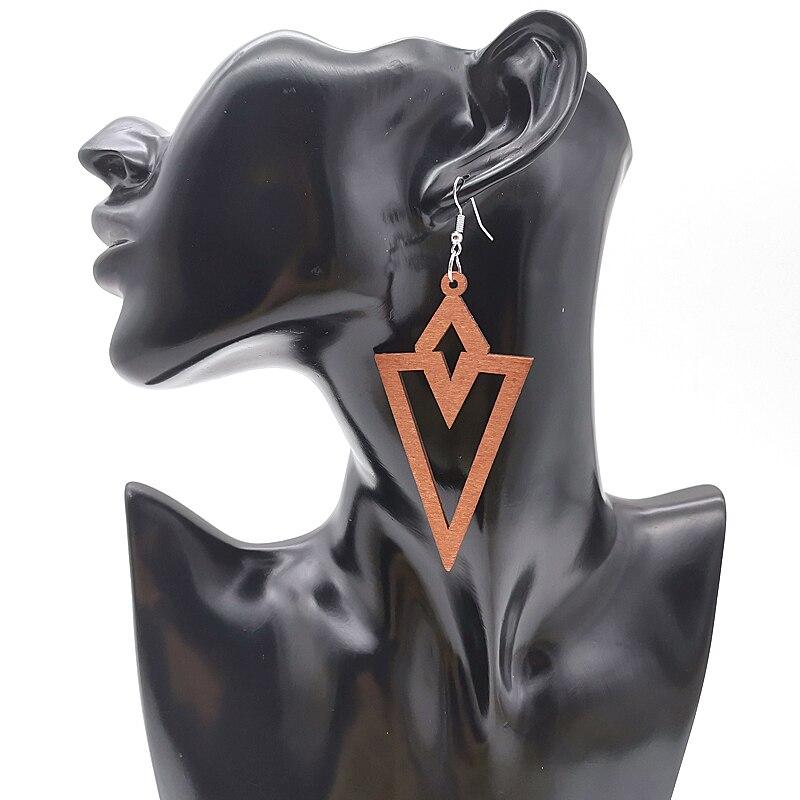 YD&YDBZ Kolczyki brinco Africa Fashion Women Ear Jewelry Ear Ring Geometric Wood Ear Drop Earrings For Bohemian Jewellery Gifts