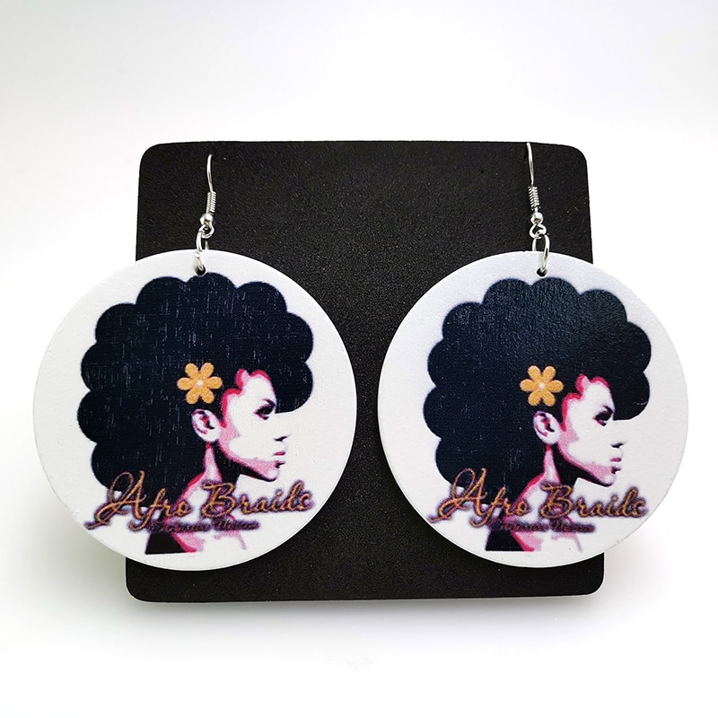 YD&YDBZ Wood Earrings Women's Jewelry Round Drop Earrings Vintage Gothic Big Earring Accessories Statement Jewellery Wholesale